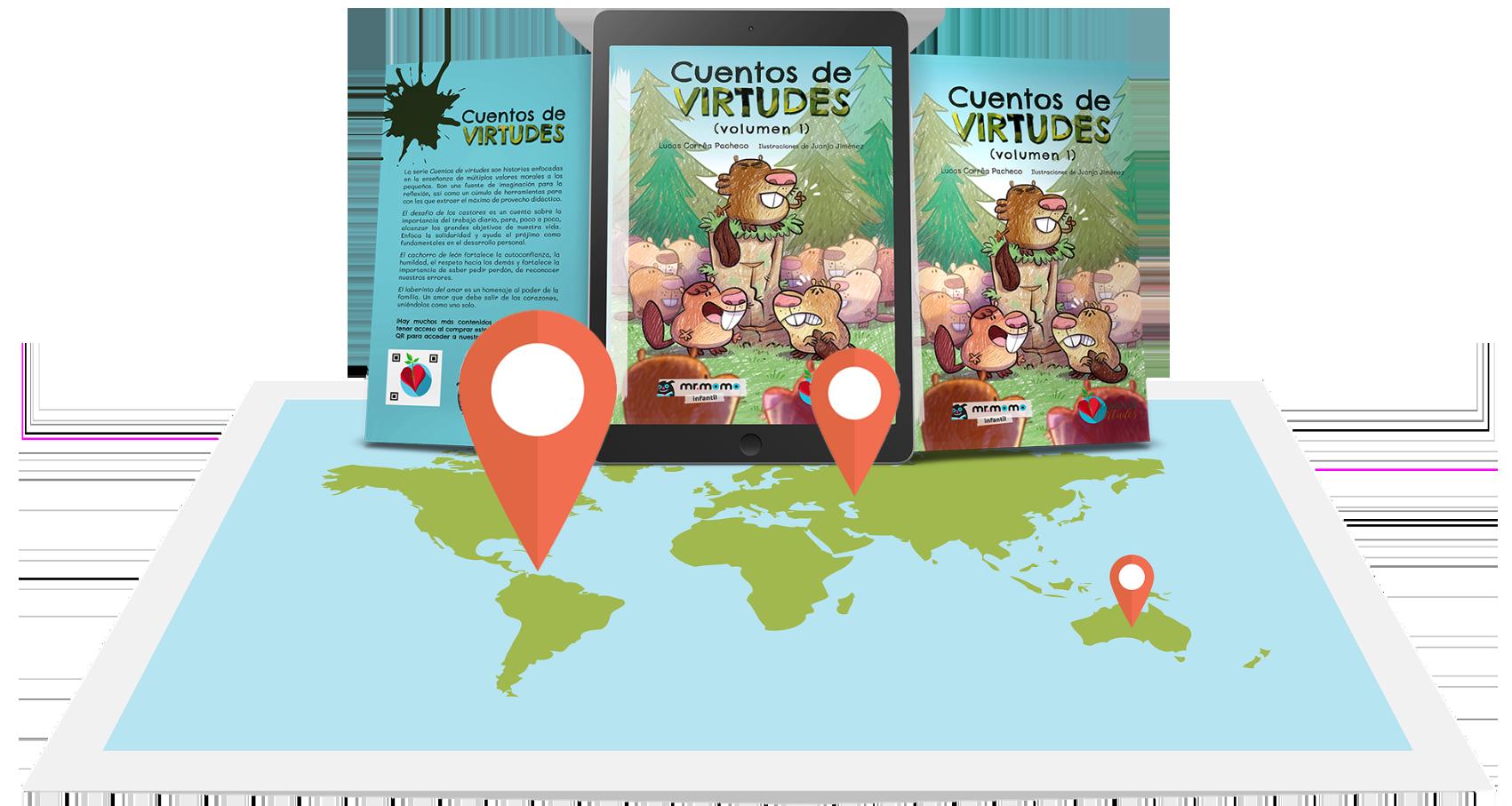 ¡Los Cuentos de Virtudes están en muchos países!